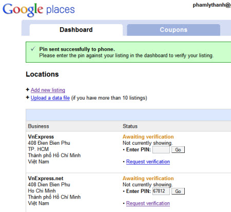 cài google places